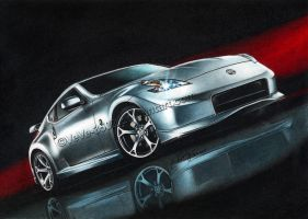 Nissan 370Z drawn final by VeVe-350Z
