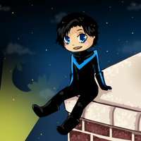 Skyscape-Nightwing by Bumbleon