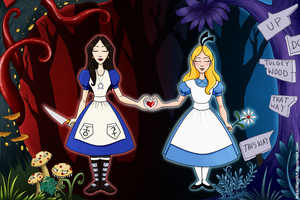 Alice vs. ALICE - Bound by Wonderland by NikkiWardArt