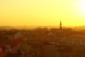 Cracow in orange by photo-exile
