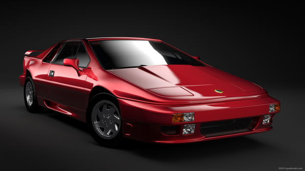 Lotus Esprit Turbo SE 1989, headlights down. by zgodzinski