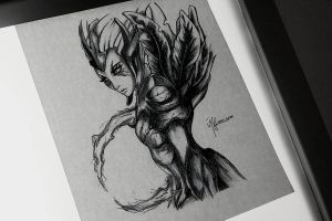 Dota2 Sketch - Vengeful Spirit by azuremizt