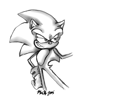 Sonic Rough Sketch by MinaWolf10