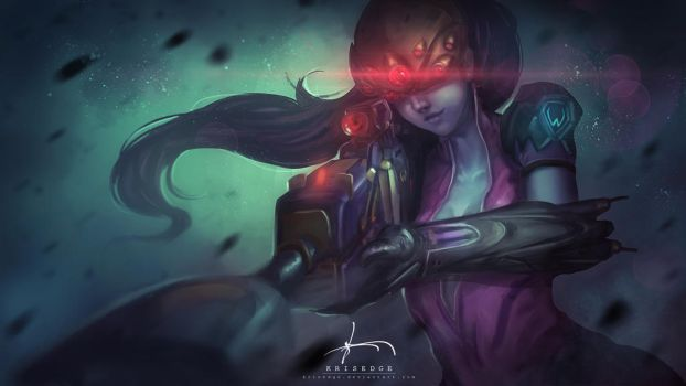Widowmaker - Overwatch Fanart by Krisedge