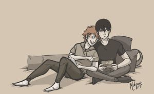 Kagehina nerds by midgaardian