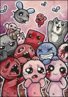 ACEO - Isaac with friends xD by Lumary92
