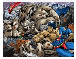 Superman VS doomsday (color) by aeanchile