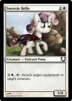 MLP_FiM_MTG - Sweetie Belle by pegasusBrohoof