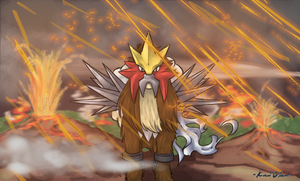 Entei's Rage by RedEidolon