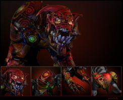 Bloody Mad - dota 2 Lifestealer Set by PabelBilly