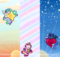 Chubby royals bookmarks by theluckyangel