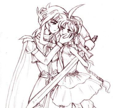FxA - Knight and Rose Maiden 2 by amako-chan