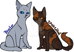 Bluefur and Spottedleaf by Purrple-Kat