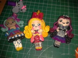Ever After High fimo brooch by Airinreika