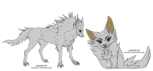 free wolf lineart by florawolf