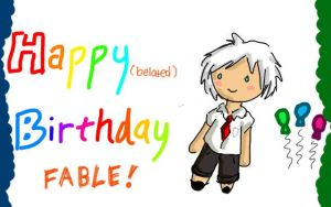 Happy Birthday Fable!!! by the26owls