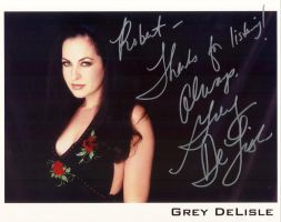 Grey Delisle Autograph by Staredcraft