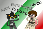 Cuss off: Karkat Vs Romano (GIF) by 4themindandsoul