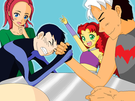dc: arm wrestle by Jaybird23