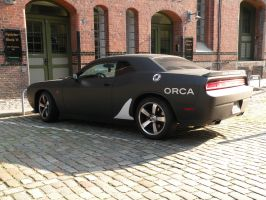 Black Dodge Challenger 'Orca' by remmy77