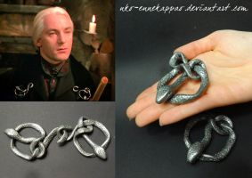 Lucius Malfoy's snake brooch by Nko-ennekappao