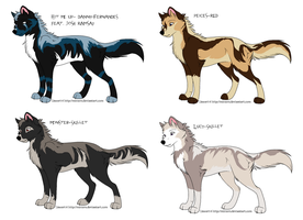 Musical Wolf Adopts 5 by MonsoonWolf