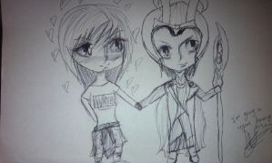 Loki and Skul Taking Over The World by IvyDevi