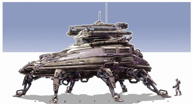 Scifi Armored Tank by angelitoon