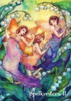 Fairies Chase Card Art by Juri H. Chinchilla by Pernastudios