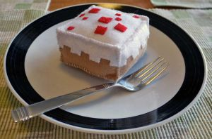 Mini Minecraft Cake Plush by alicetwasbrillig