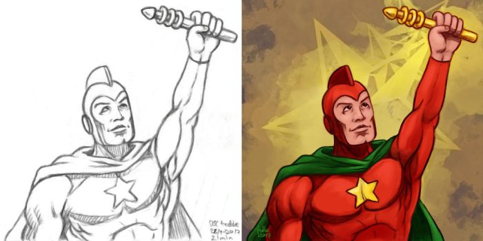 Daily Sketches Starman by fedde