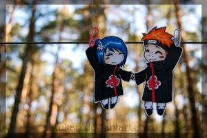 Konan Pein hanging paperchilds by Fukari