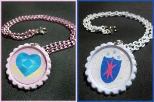 The Royal Couple Necklaces - Cadence Shining Armor by Monostache