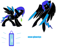 wolfieears contest entry: neon glowstyx by bloostormbrony