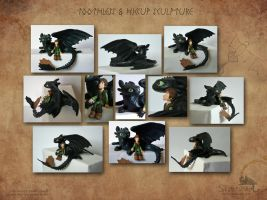 Toothless and Hiccup by Strecno