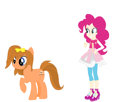 Crossover AU Honoka and Pinkie by EverythingReviewer