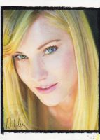 Heather Morris - Oil Pastels by NataliesCourageClub