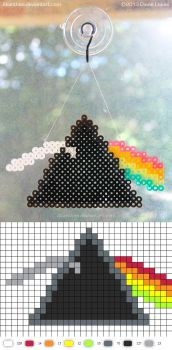 Pink Floyd Sun-Catcher -- Perler Pattern by Akanthea