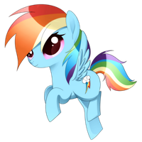 MLP - Chibi Rainbow Dash by haydee