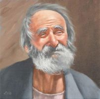 Old man portrait by KevinJacksonArtist