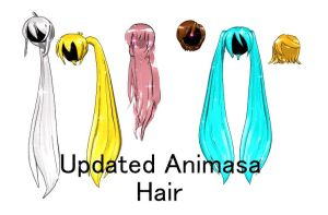 Updated MMD Animasa Female Hair Download by TheCarrotKouhai