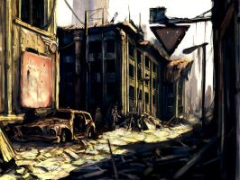dusty town by Comrade-Ogilvi