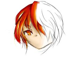 fire hair practice by adelinelinee