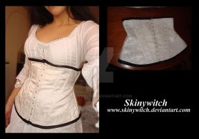 White Underbust Corset by skinywitch