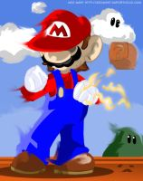 Windswept Mario by geogant