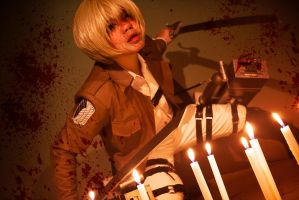 Armin Arlert: Blood Lust by Lishrayder