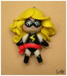 Fimo Miss Marvel by LolleBijoux
