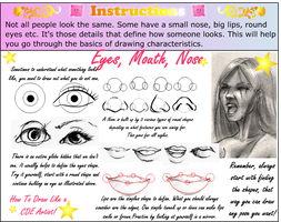 How to draw eyes lips nose by annorekto