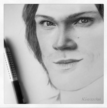 WIP_Supernatural_Sam Winchester_Jared Padalecki II by NLevaschuk