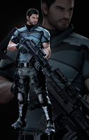 Vendetta Chris Redfield - Render by FearEffectInferno
